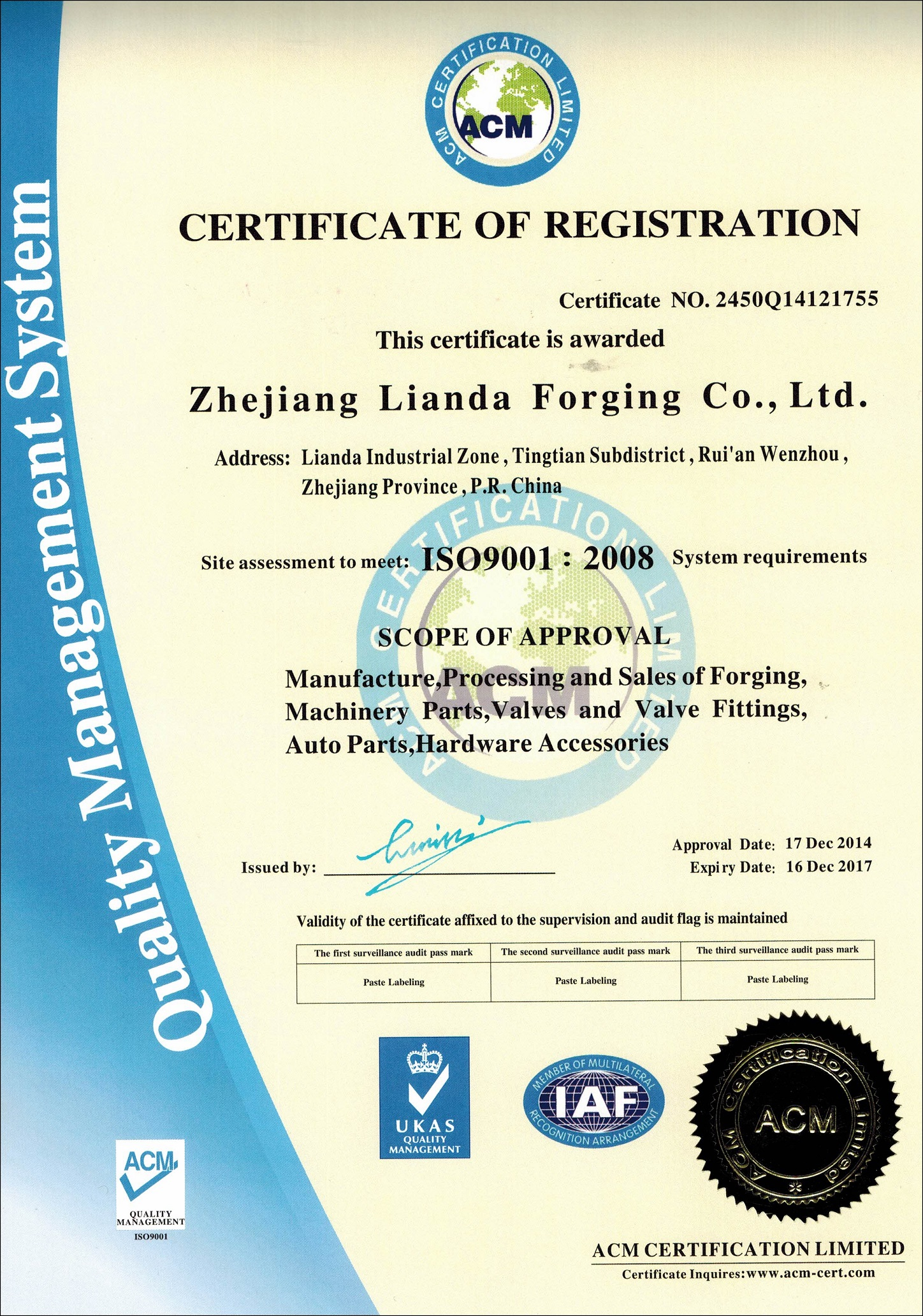 Certificate ld forge the quality certification is a testimony to our efforts at monitoring and improving accuracy of production by focusing on procedures and work xflitez Gallery
